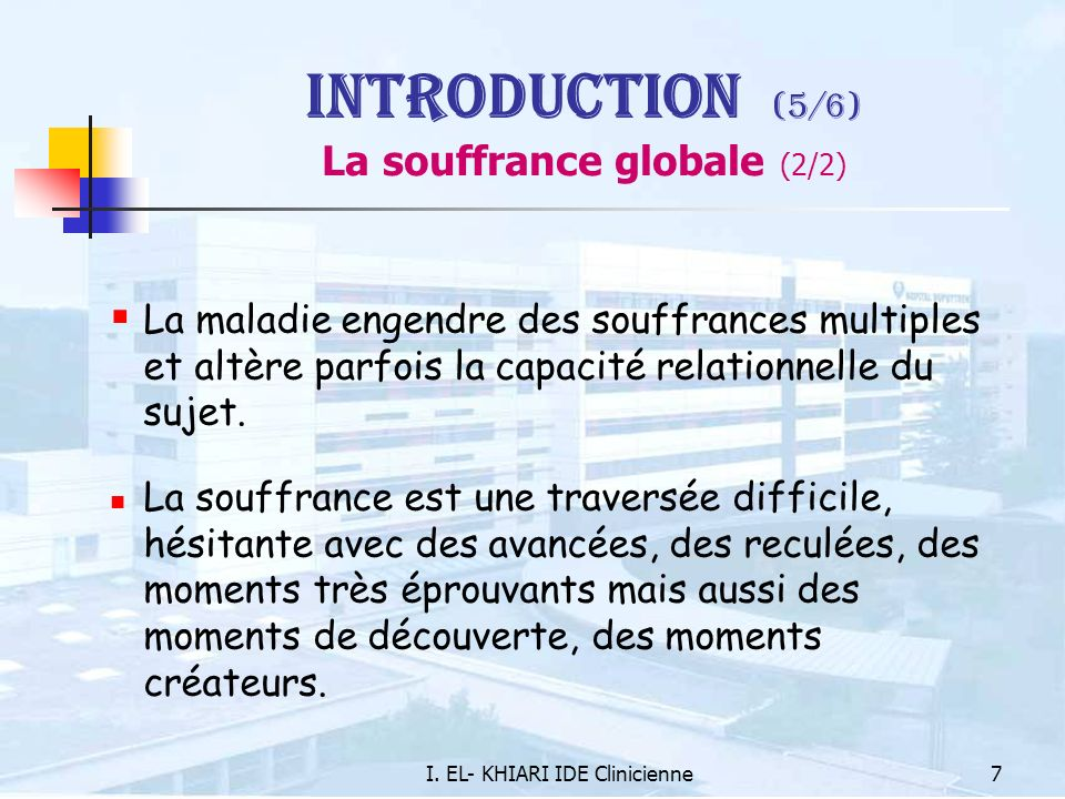 Introduction (5/6) La souffrance globale (2/2)