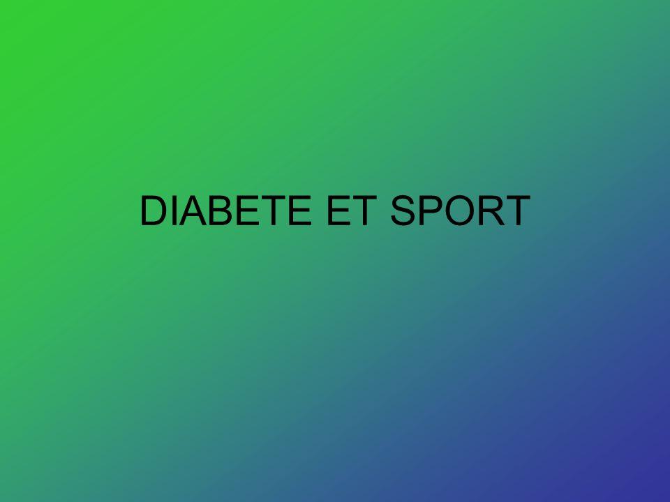 DIABETE ET SPORT