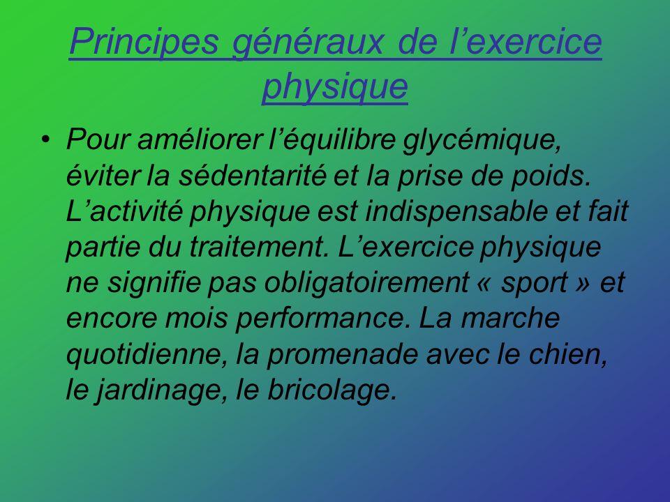 Principes généraux de l'exercice physique