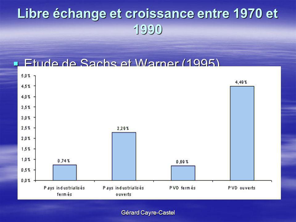 Libre échange et croissance entre 1970 et 1990