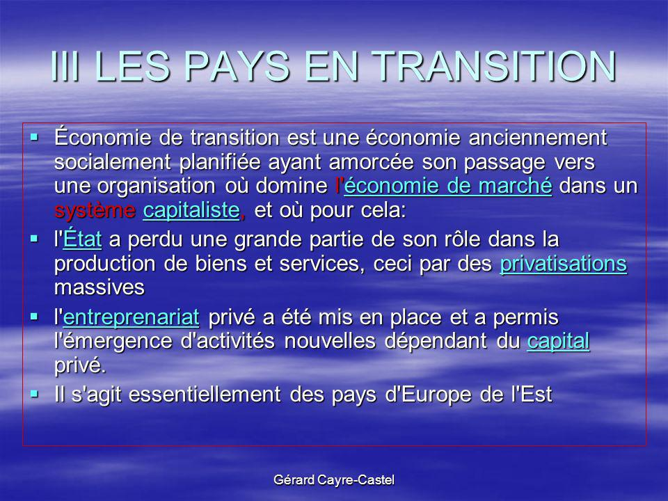 III LES PAYS EN TRANSITION