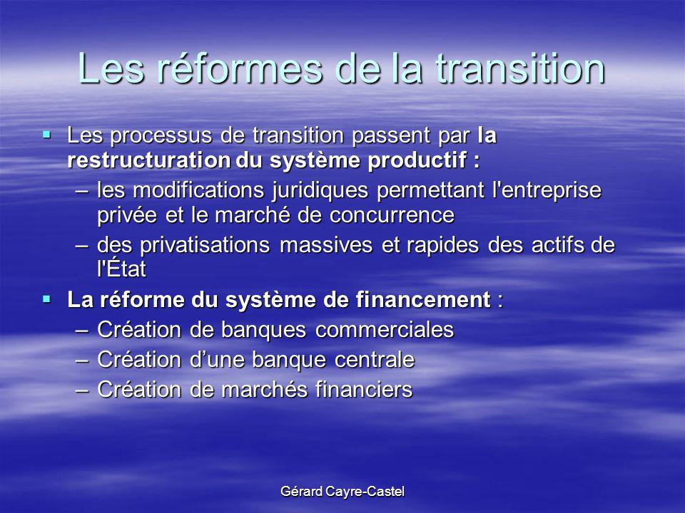 Les réformes de la transition