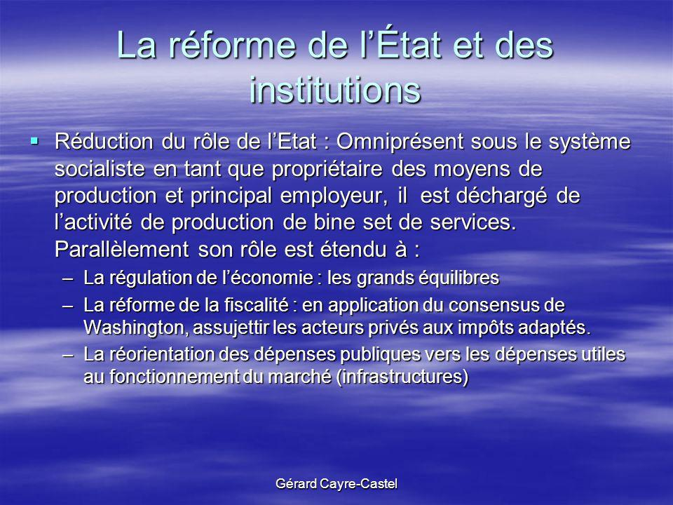 La réforme de l'État et des institutions