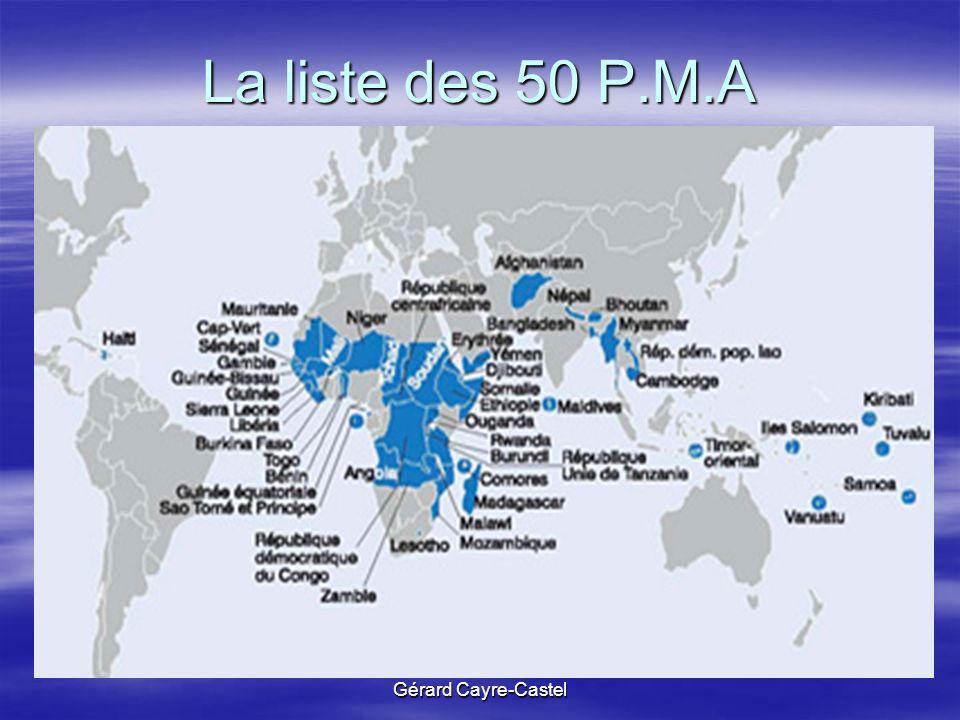 La liste des 50 P.M.A Gérard Cayre-Castel