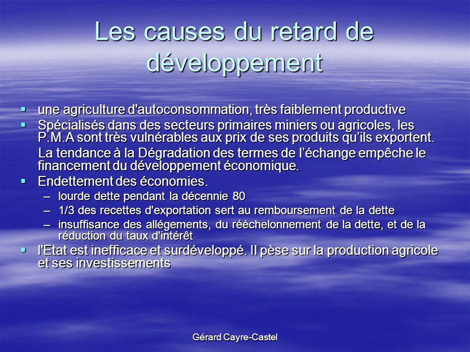 Les causes du retard de développement