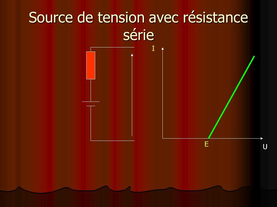 Source de tension avec résistance série