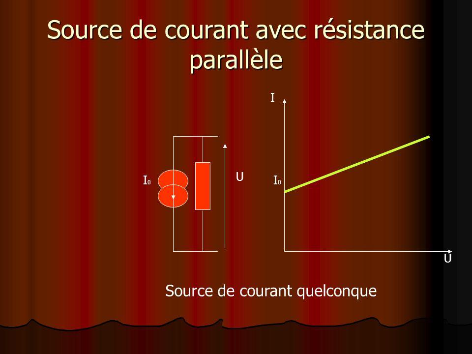 Source de courant avec résistance parallèle