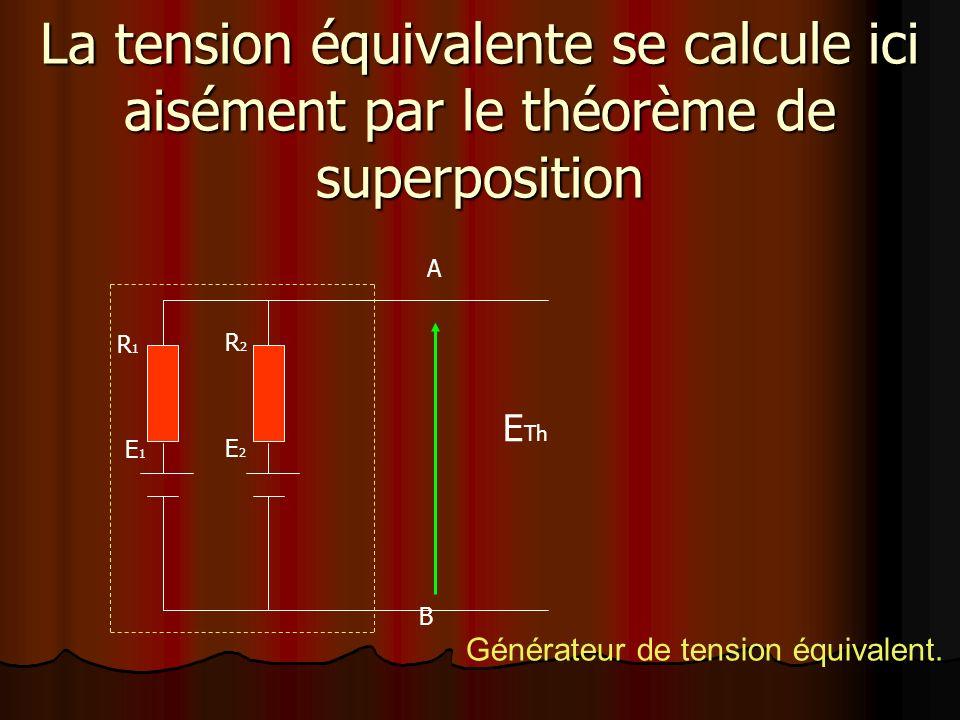 Générateur de tension équivalent.