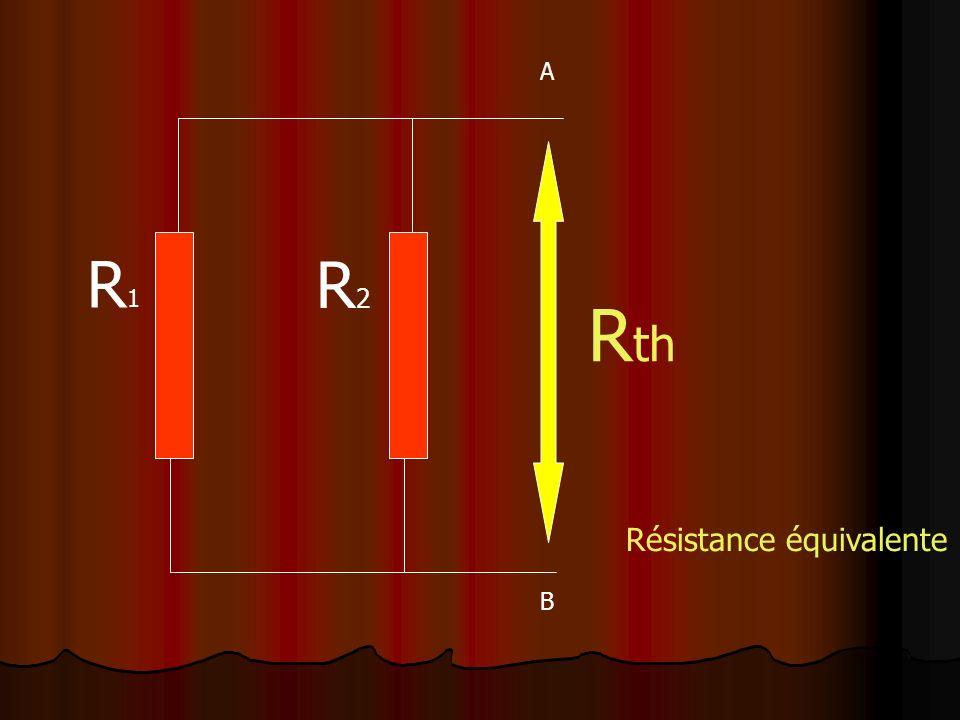 A R1 R2 Rth Résistance équivalente B
