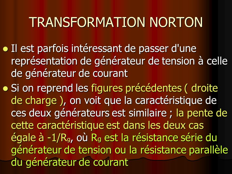 TRANSFORMATION NORTON