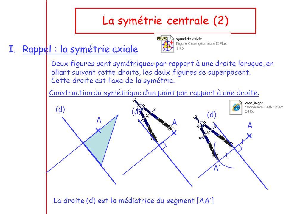 La symétrie centrale (2)