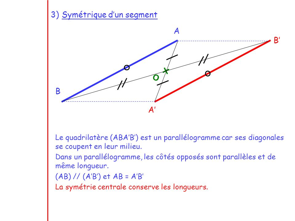 Symétrique d'un segment