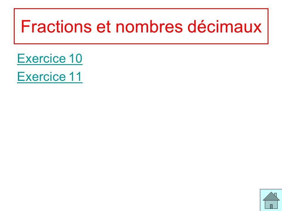 Fractions et nombres décimaux