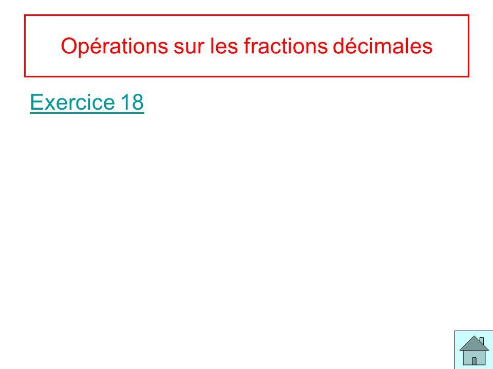 Opérations sur les fractions décimales