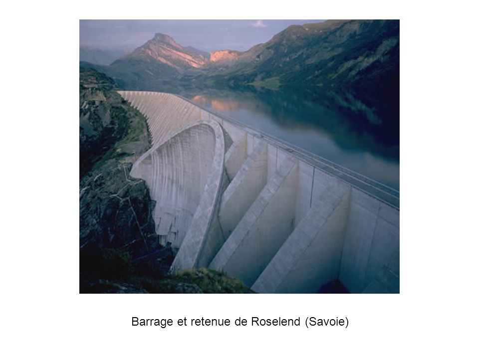 Barrage et retenue de Roselend (Savoie)
