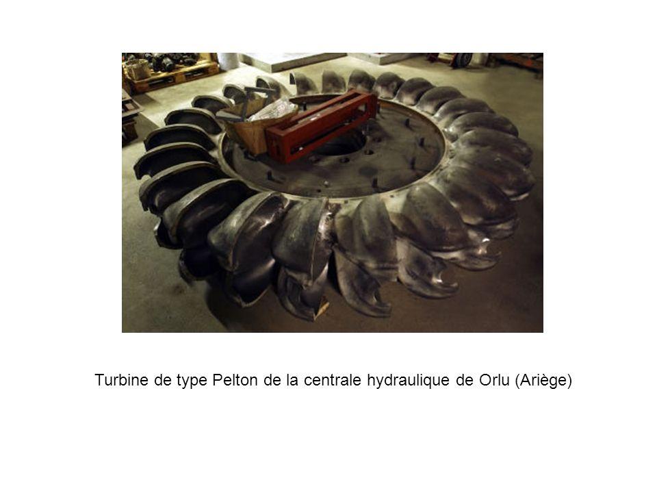 Turbine de type Pelton de la centrale hydraulique de Orlu (Ariège)