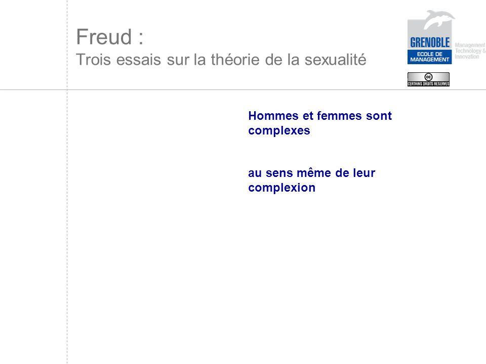 Freud : Trois essais sur la théorie de la sexualité