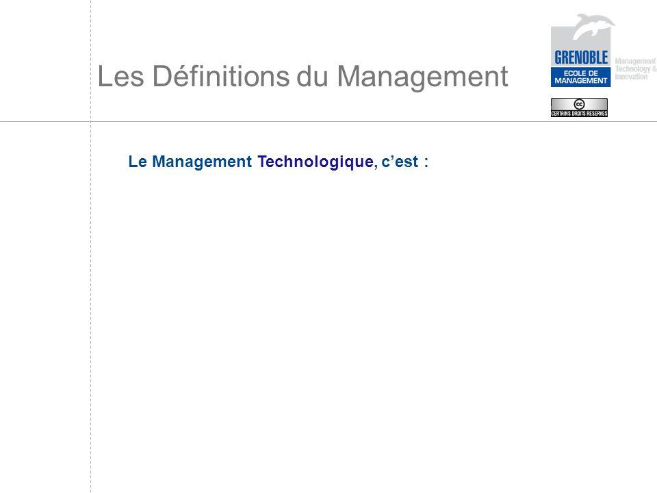 Les Définitions du Management