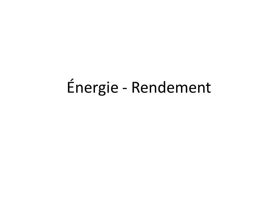 Énergie - Rendement