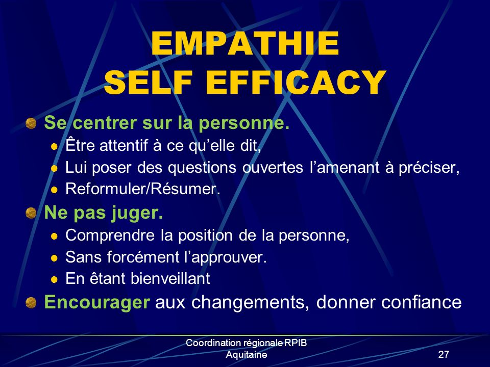 EMPATHIE SELF EFFICACY