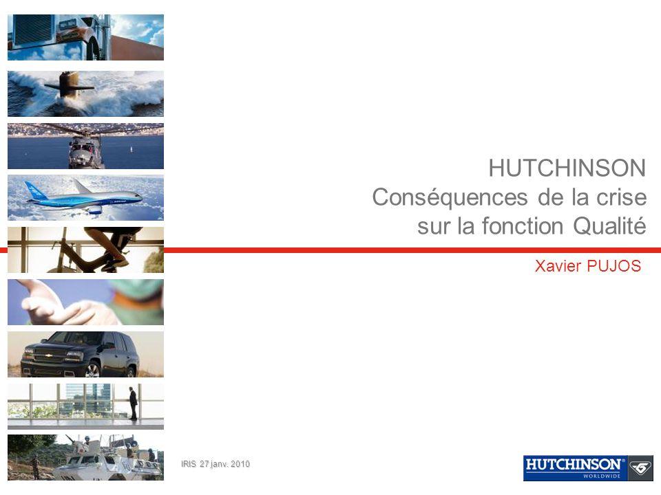 HUTCHINSON Conséquences de la crise sur la fonction Qualité
