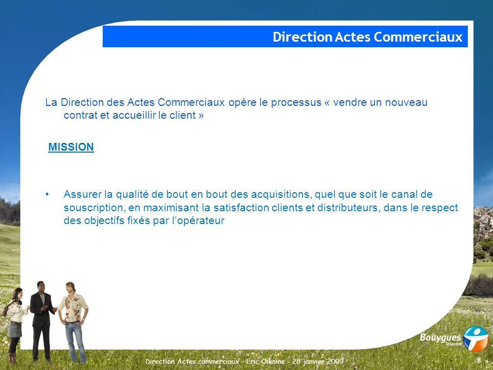 Direction Actes Commerciaux