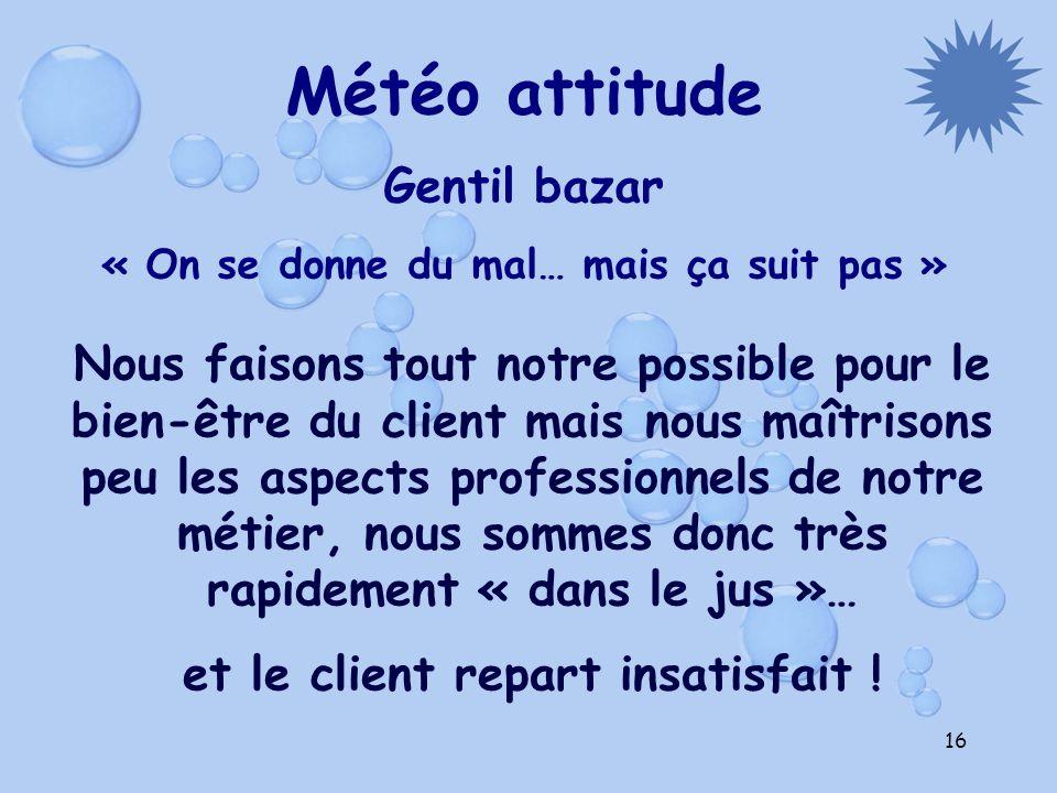 Météo attitude Gentil bazar
