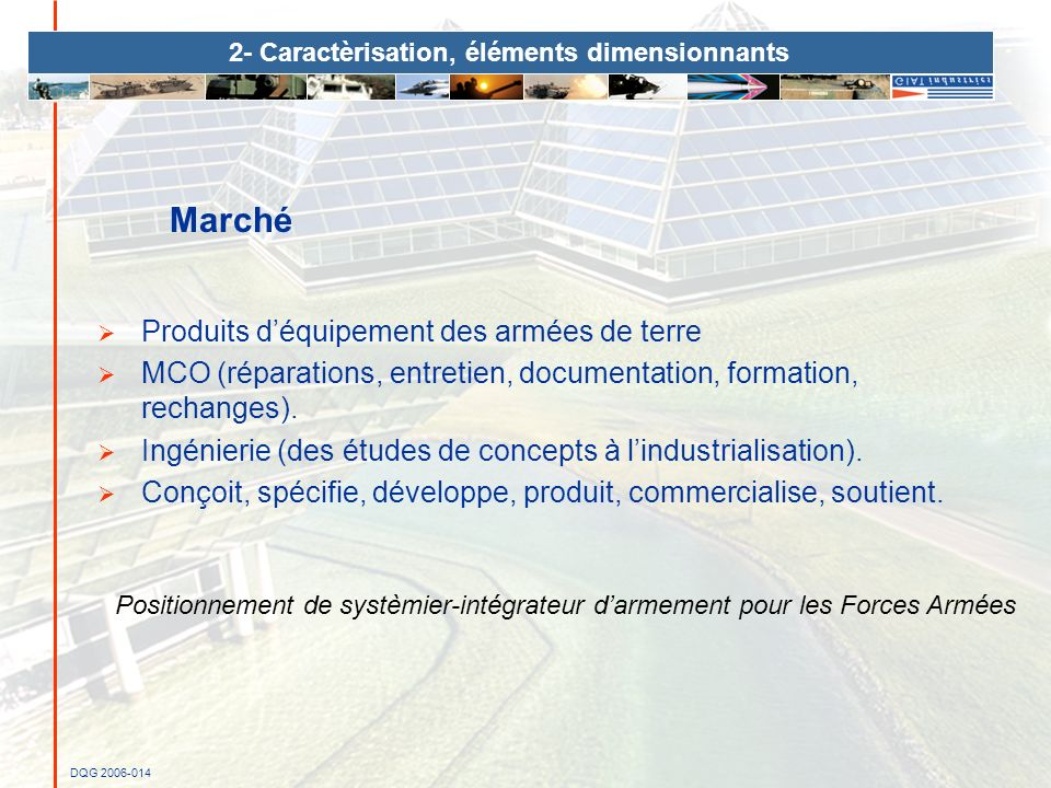 2- Caractèrisation, éléments dimensionnants