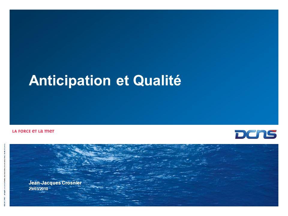 Anticipation et Qualité