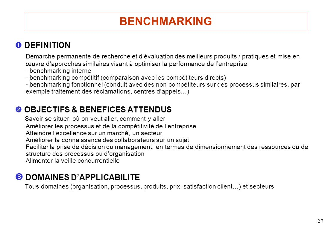 BENCHMARKING  DEFINITION.