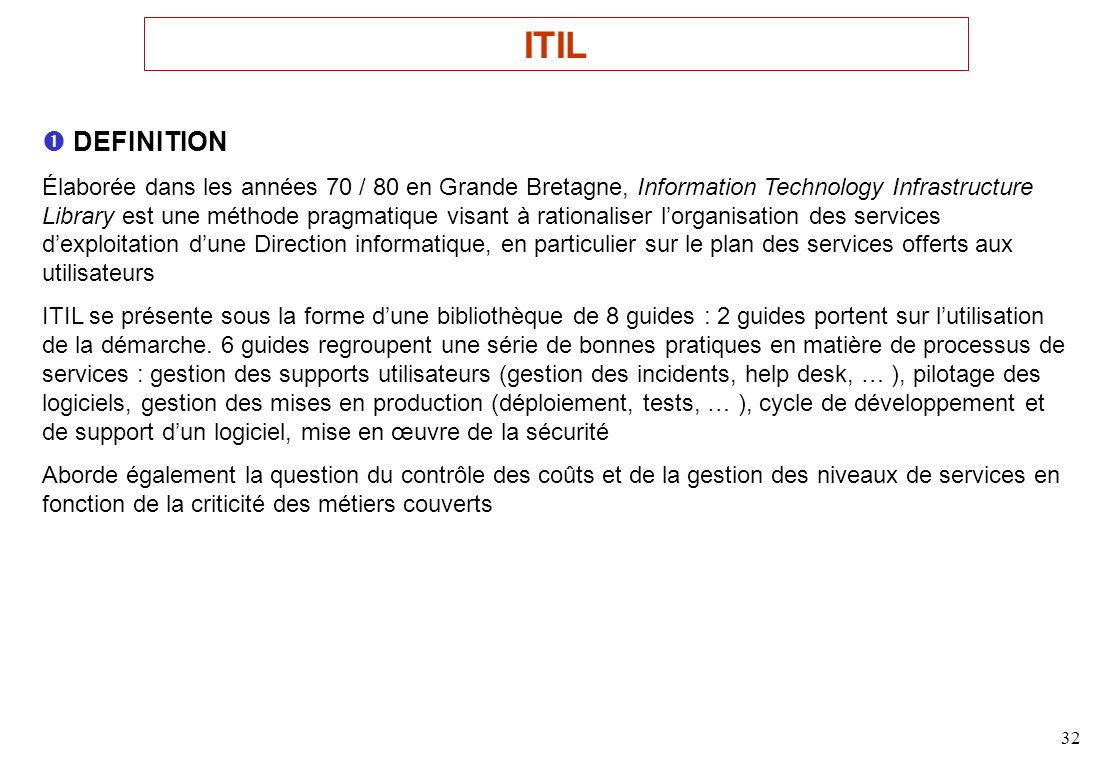 ITIL  DEFINITION.