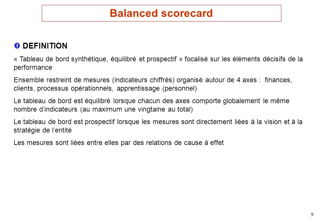 Balanced scorecard  DEFINITION