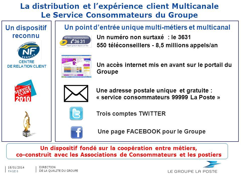 La distribution et l'expérience client Multicanale Le Service Consommateurs du Groupe