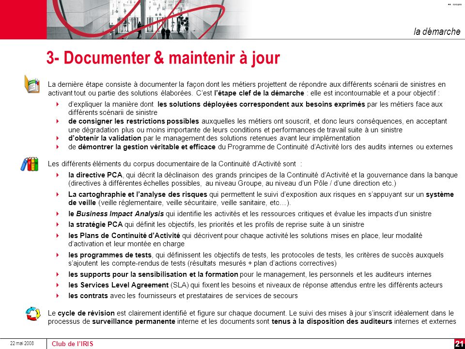3- Documenter & maintenir à jour
