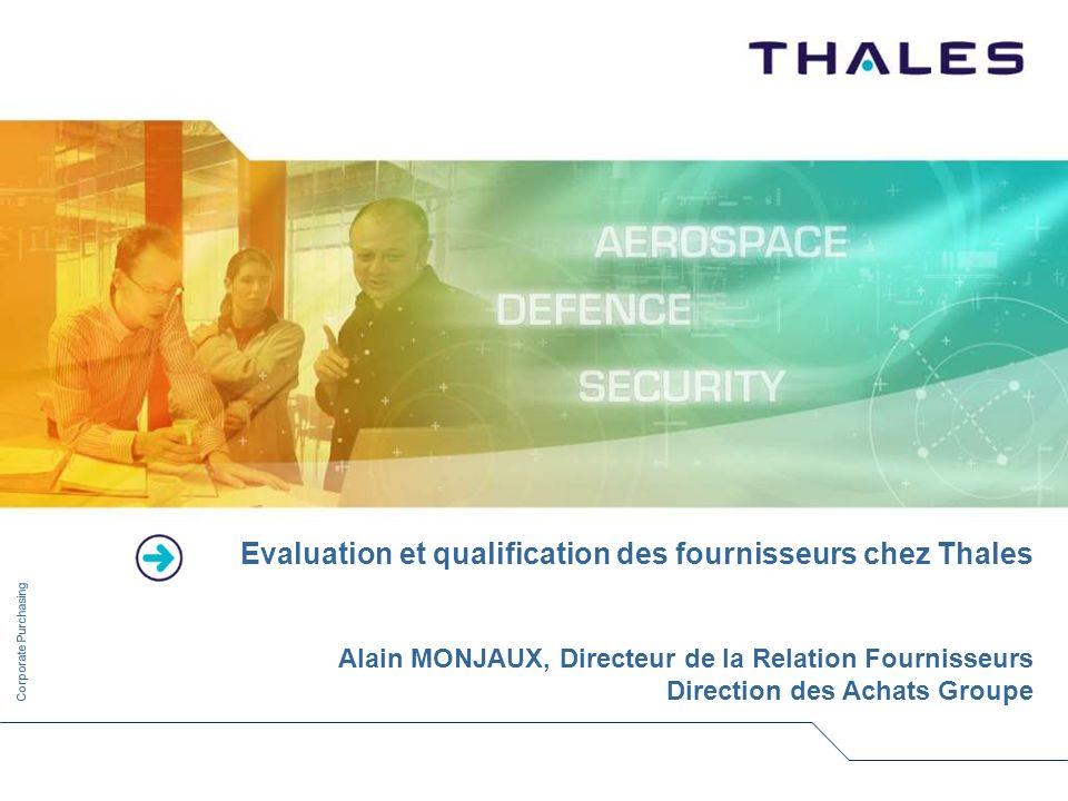 Evaluation et qualification des fournisseurs chez Thales