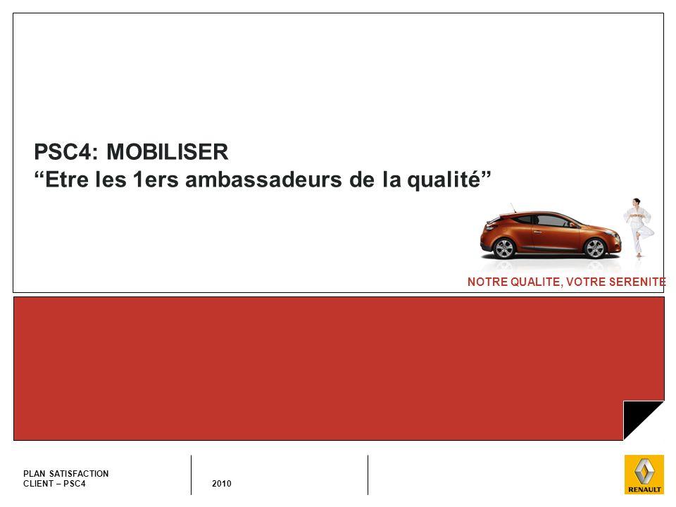 PSC4: MOBILISER Etre les 1ers ambassadeurs de la qualité