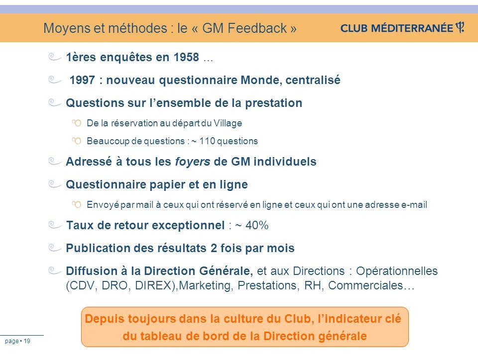 Moyens et méthodes : le « GM Feedback »