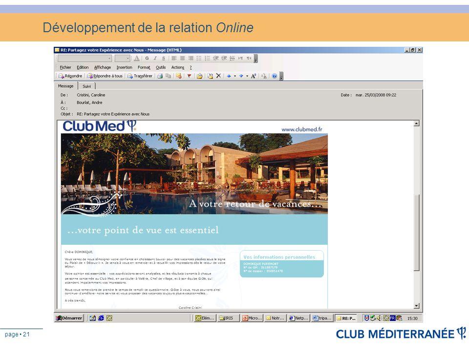 Développement de la relation Online