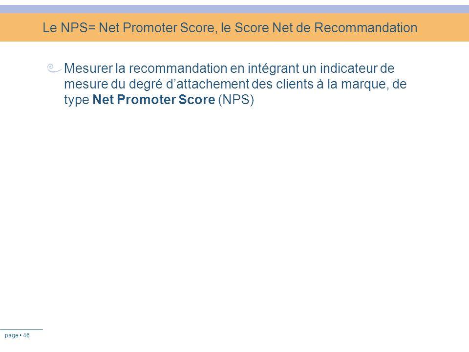 Le NPS= Net Promoter Score, le Score Net de Recommandation