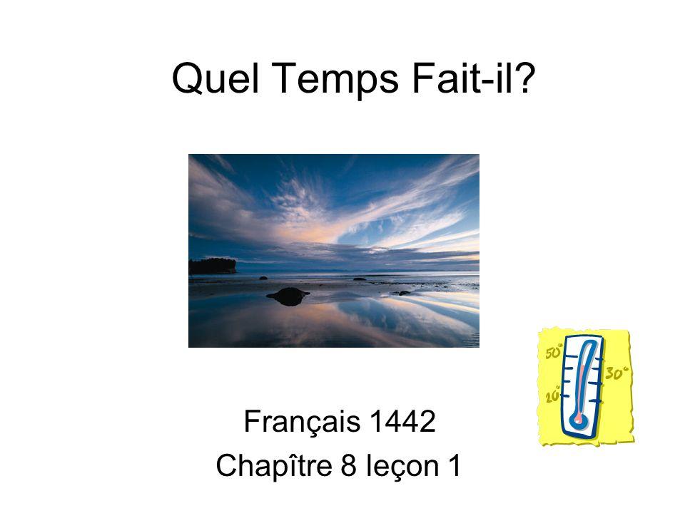 Français 1442 Chapître 8 leçon 1