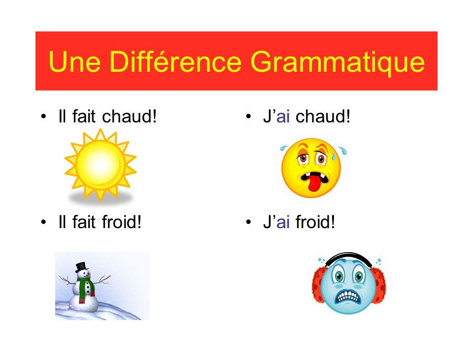 Une Différence Grammatique