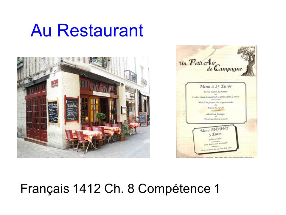 Français 1412 Ch. 8 Compétence 1