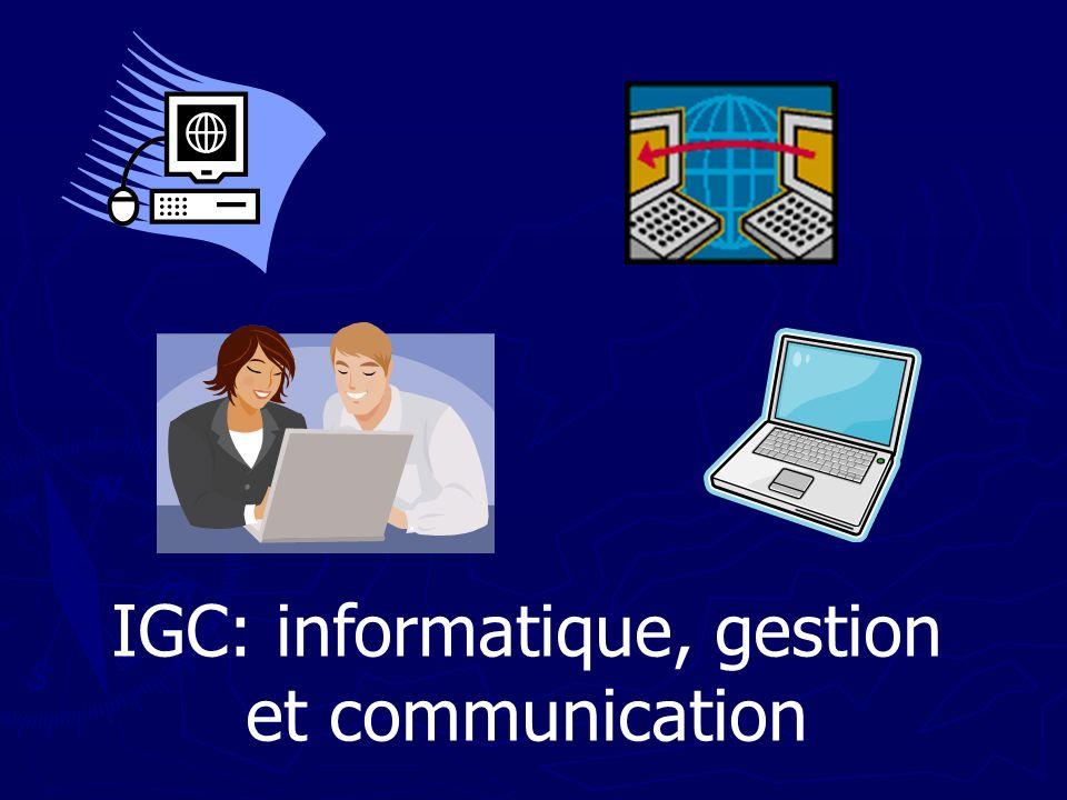 IGC: informatique, gestion et communication