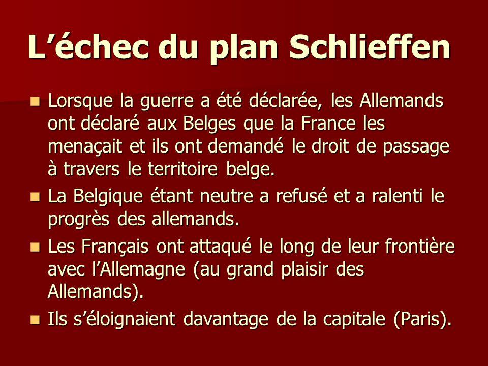 L'échec du plan Schlieffen