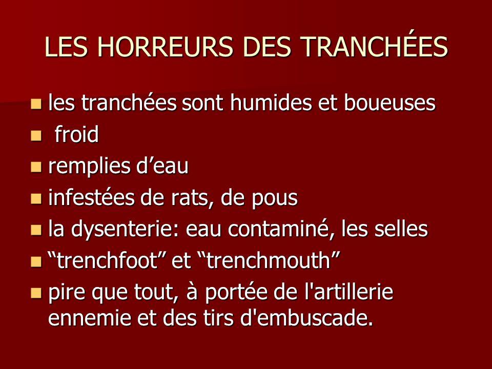 LES HORREURS DES TRANCHÉES