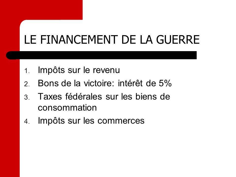 LE FINANCEMENT DE LA GUERRE