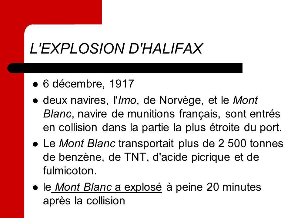 L EXPLOSION D HALIFAX 6 décembre, 1917