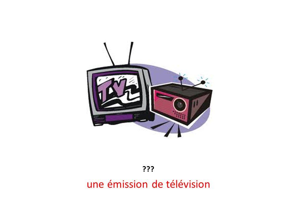 une émission de télévision