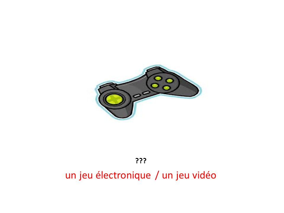 un jeu électronique / un jeu vidéo