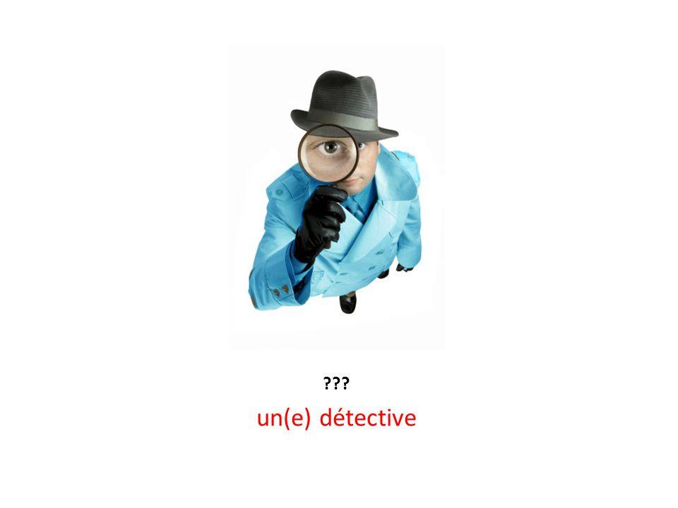 un(e) détective